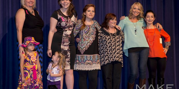 Group Photo of models supporting a Turner Syndrome awareness event