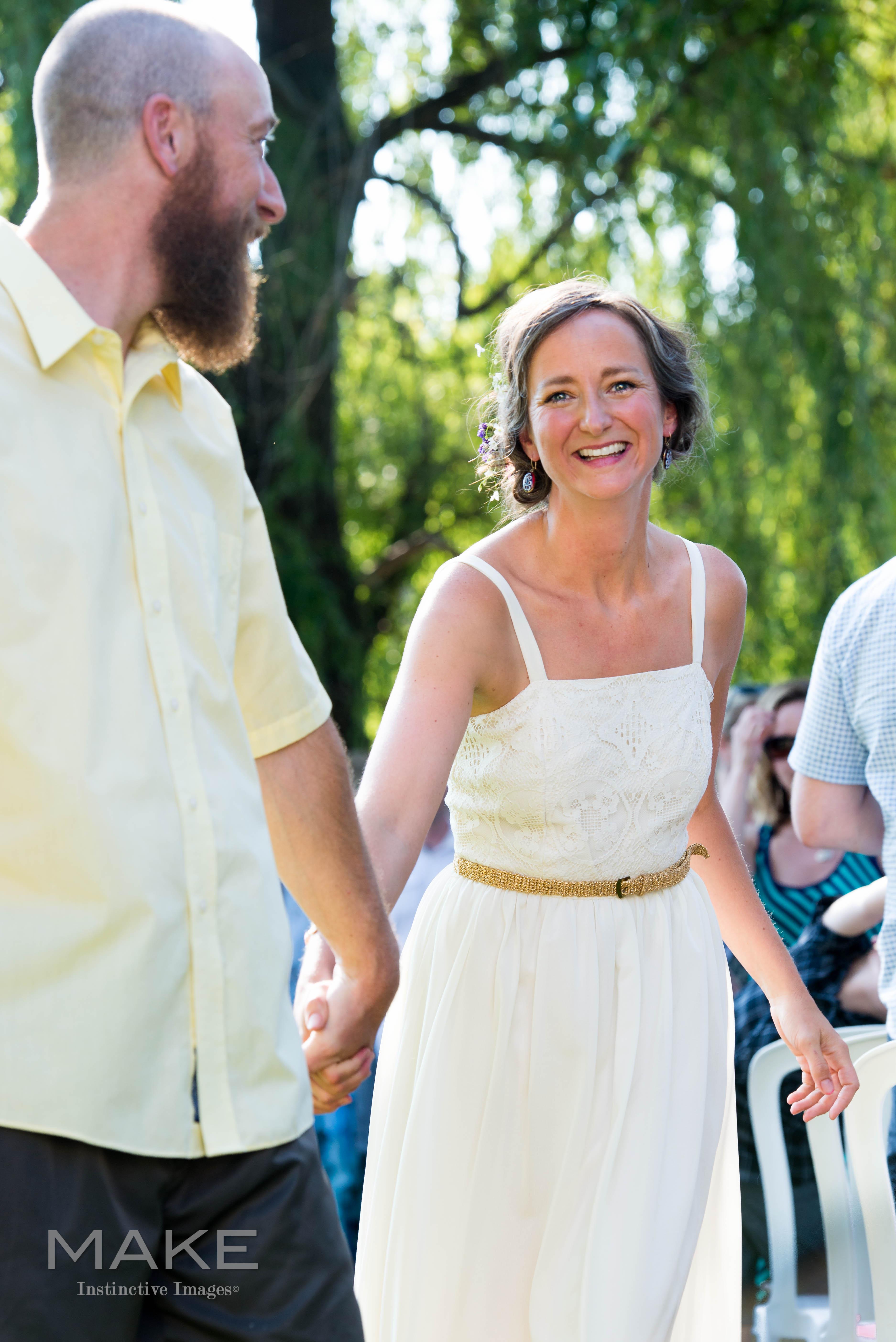 casual and fun backyard wedding in Roswell Georgia