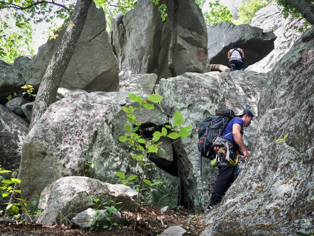Cherokee Rock Village Climbing Alabama