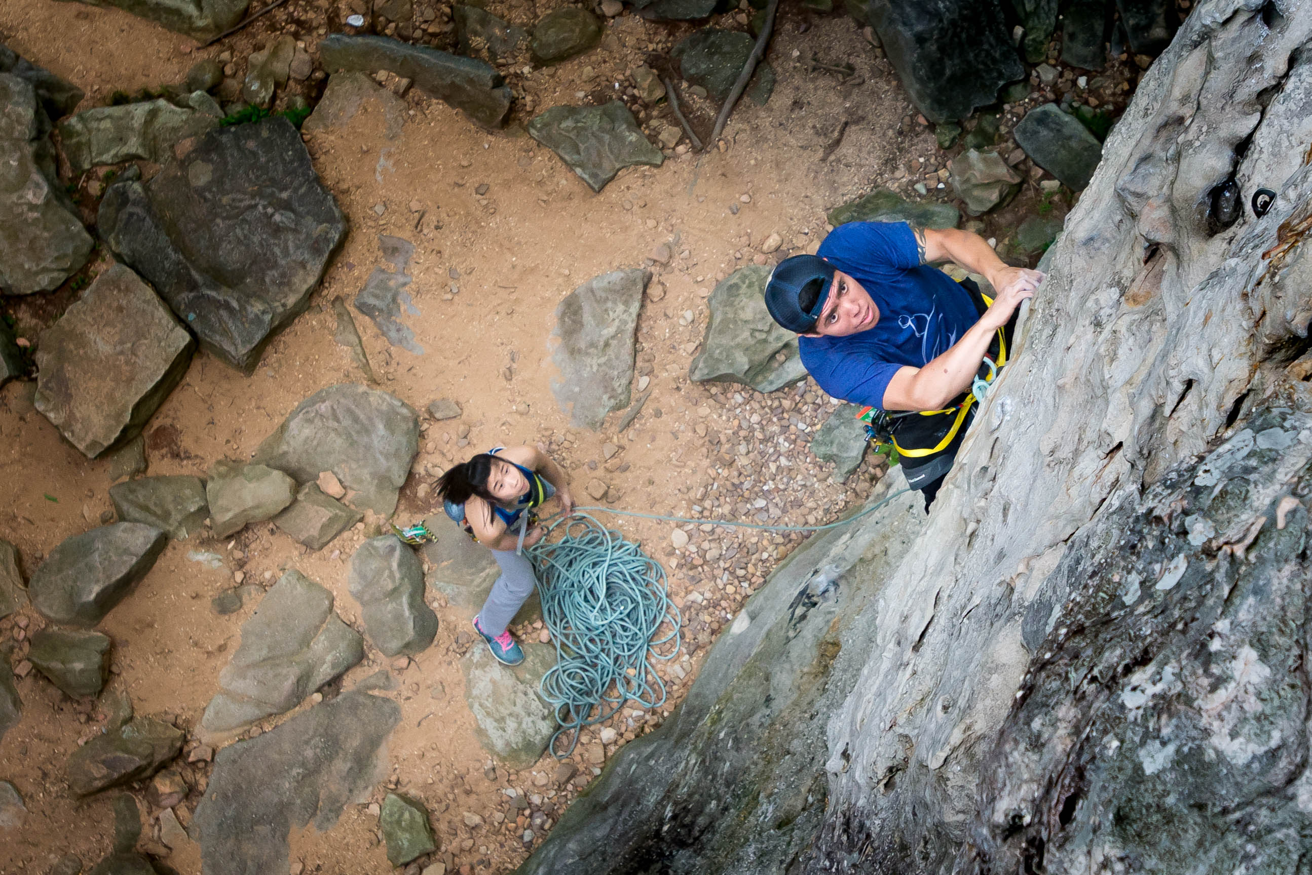 southeast rock climbing photographer